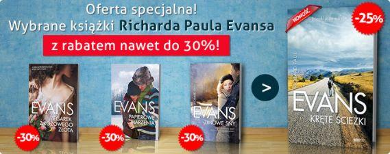 Promocja na książki Richarda Paula Evansa! -30% na wybrane tytuły!