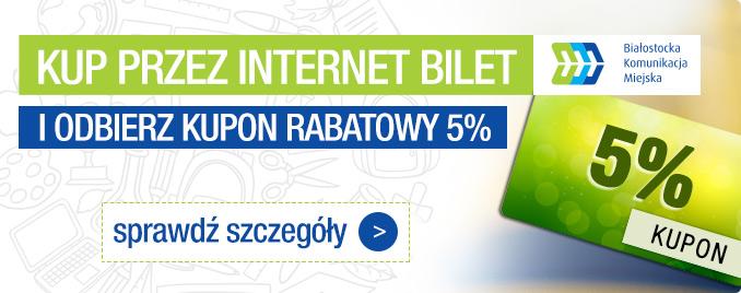Kup Bilet Przez Internet, Odbierz 5% Dodatkowej Zniżki!