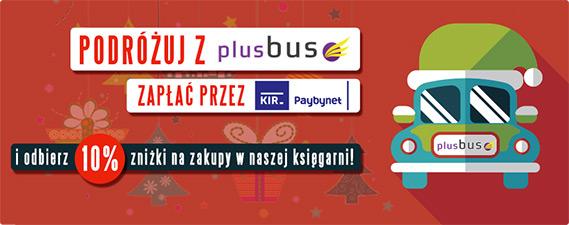Podróżuj z PlusBus i zgarnij 10% zniżki na zakupy w TaniaKsiazka.pl