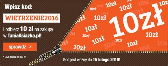 Nowy kod zniżkowy 10 zł na zakupy w TaniaKsiazka.pl