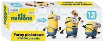 Farby plakatowe 12 kolorów 20ml Minionki BAMBINO