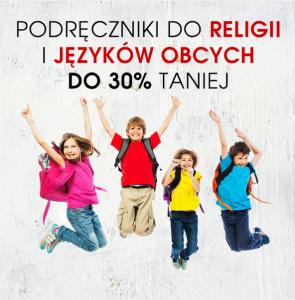 Podręczniki do religii i języków obcych do 30% taniej!