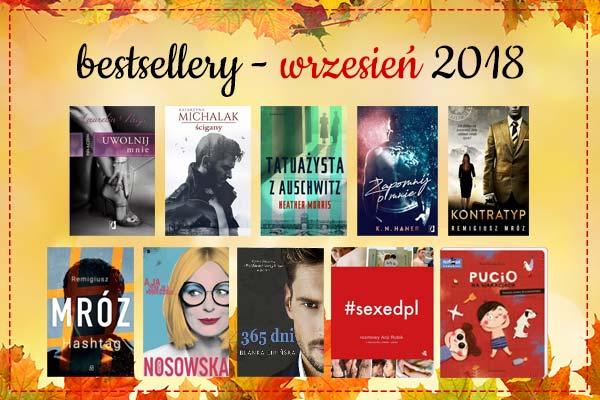 Bestsellery września 2018 w TaniaKsiazka.pl