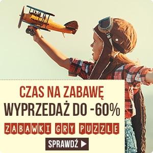 Wyprzedaż zabawek do -60% w TaniaKsiazka.pl >>