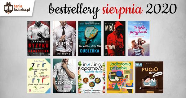 Bestsellery sierpnia 2020 -- sprawdź!