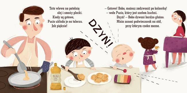 Pucio zostaje kucharzem, czyli o radości z jedzenia - ilustracje