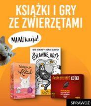 Gry i książki dla kociarzy i nie tylko! Promocja dla zwierzolubów